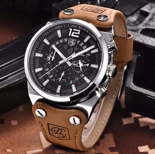 Relógio Benyar Aviador Com Pulseira De Couro. R  219 03cf31ed52
