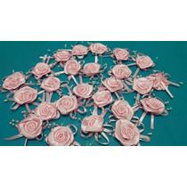 Lote 25 Rosas Cetim Com Pérola Lembrança Casamento
