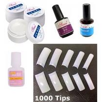 1000 Tips Sorriso+ 1 Topcoat+ 1 Primer+5 Geluv+5 Cola P/unha