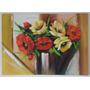 Quadro De Vaso De Flores - Sem Moldura