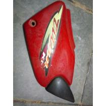 Tampa Carenagem Lateral Vermelho Cg Titan Fan 125 Sem Pinos