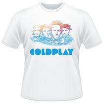 Camiseta Coldplay Banda Rock Camisa