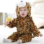Macacão Bebe Inverno Desenho Importado Leopardo Frete Gratis