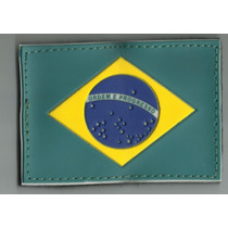 Bandeira Do Brasil Emborrachada Com Velcro