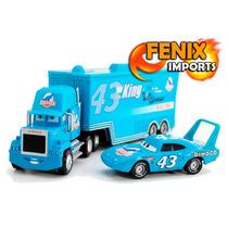 Carreta Mack Azul Filme Carros Caminhão E Macquen Miniatura