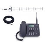 Kit Celular Rural De Mesa 2 Chip Aquário Quadriband