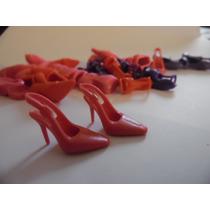 Sapato De Salto Sandália Para Barbie Modelo 9 Rosa Importado
