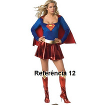Fantasia Feminina Super Girl Herói - Fotos Reais!