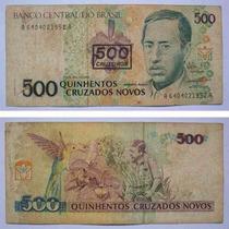 Nota Antiga Ncz$ 500 Cruzados Novos Cédula Augusto Ruschi 89