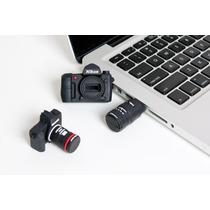 Pen Drive Usb 4gb Personalizado Câmera Profissional Nikon