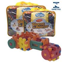 Blocos Montar Formando Ideias Brinquedo Pedagógico 500 Pçs