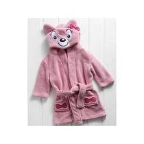Roupão Infantil M Manga Longa Macio Confortável Ursa Corttex