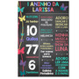 Chalkboard Quadro Personalizado Infantil Casal Adulto