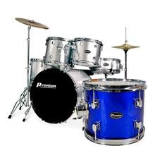 Bateria Acústica Premium Dx 822 Azul Na Cheiro De Musica