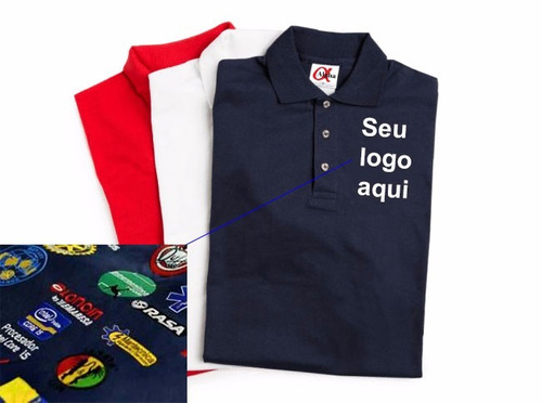 Camisa Polo Personalizada Luxo - Kit Com 4 Unid 90fb8724ee7