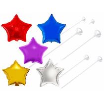 120 Balão Estrela 45cm + 120 Varetas - Decoração, Arranjo