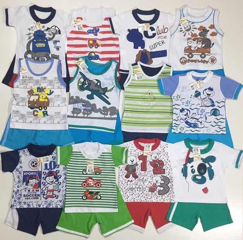 38697b23d7 Roupa Bebê Menino Infantil Kit 10 Conjunto Masculino Atacado à venda ...