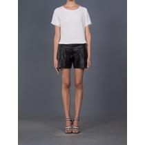Lindo Shorts Couro Ecológico Alix Shop!! Novo!