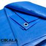 Lona Impermeável 6x5 M Plástica Azul Para Telhados Camping