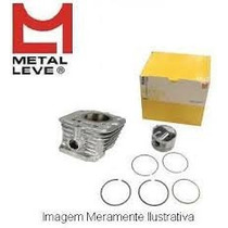 Cilindro Pistão Anéis Metal Leve Titan Cg 150 Bros Fan Titan