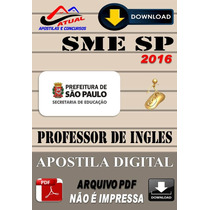 Apostila Digital Concurso Sme Sp Professor De Ingles 2016