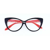 75038028728a8 Armação P óculos De Grau C  Formato De Gatinho Preto- Vinkin à venda ...
