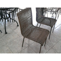 Cadeira Em Ferro Toda Revestida Em Junco So Os Pes Em Ferro