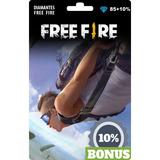 Free Fire 85 Diamantes +9 Bônus (total 94) Recarga P/ Conta
