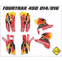 Kit Adesivo Quadriciclo Honda Fourtrax Red Bull Gravity-x
