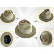 Gg - Chapéu Indiana Jones Camurça
