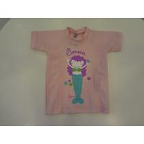 Camiseta Praia Sereia De Lycra - Cara De Criança