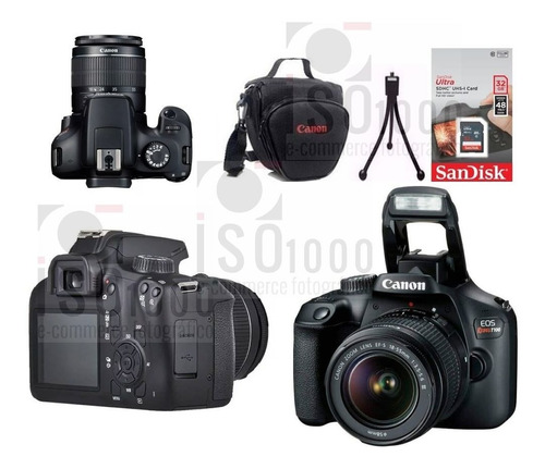 Câmera Canon T100 + 18-55mm C/ Nf-e + Sdhc 32g + Brindes