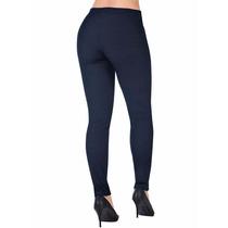 Calça Legging Jeans Escuro Com Efeito Jeans