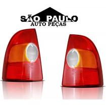 Par Lanterna Traseira Strada 1998 1999 2000 Tricolor Nova