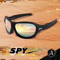 Óculos De Sol Spy Original - Avt 65 Preto Fosco - Espelhada