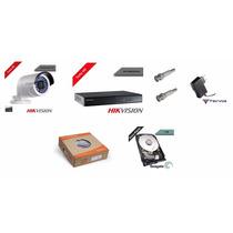 Kit Cftv Básico 1 Dvr 4 Canais +1 Câmera Hd 2m + Acessórios