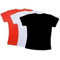 Camiseta Baby Look Em Cores/100%algodão/frete Gratis