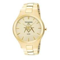 Relógio Technos Maçonaria Slim Gl20gr/m4x - Garantia E Nf