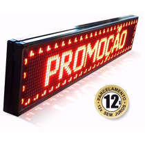 Painel Display Letreiro Led Luminoso 100 X 20cm