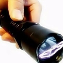 Arma De Choque Lanterna + Coldre De Brinde - Recarregável