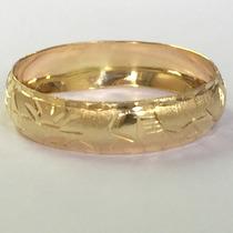 Ngold Anel Aliança Escrava Abaulado Ouro Amarelo 18 K 750
