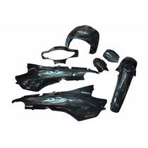 Kit Plásticos Carenagem Honda Biz 100 Verde 2003+adesivo