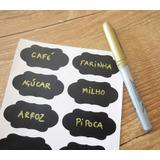 60 Etiquetas Adesivas Lousa + Caneta Apagável