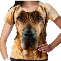 Camiseta Cachorro Fila Tigrado Feminina