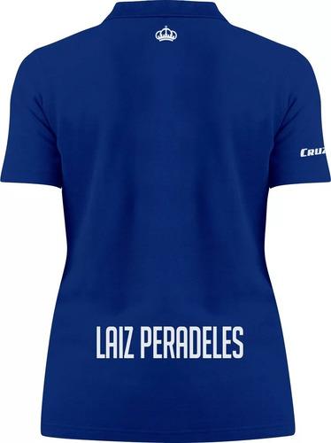 Camisa Polo Personalizada Cruzeiro Lais Feminino Azul. Preço  R  69 9 Veja  MercadoLibre 325d0eeb6b5f8