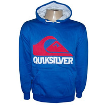 Blusa Moletom Quiksilver Azul Royal Canguru Qs