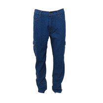 Calça Jeans Masculina Bolso Cargo Lateral Básica