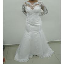 Vestido De Noiva Sereia Longo - Pronta Entrega