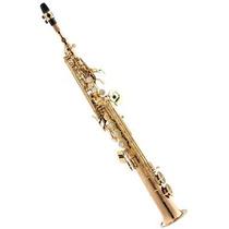 Saxofone Soprano Eagle Spx512 Profissional Laqueado Com Case