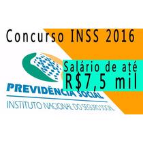 Concurso Inss 2016 - 300 Vídeo Aulas, Apostilas E Provas